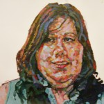 3. Tori, acrylic and oil pastel on paper, 26x27 inches, 2007