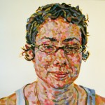 5. Emily Haldadier, acrylic and oil pastel on paper, 26x40 inches, 2008