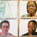 7. Several works, acrylic and oil pastel on paper, all 26x40 inches, 2008