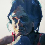 9. Georganna Tapley II, acrylic and oil pastel on paper, 26x40 inches, 2005