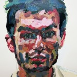 10. Jeremy DePrez, acrylic and oil pastel on paper, 26x40 inches, 2007