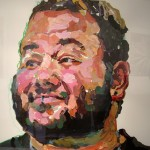 14. David Bines, acrylic and oil pastel on paper, 26x40 inches, 2007